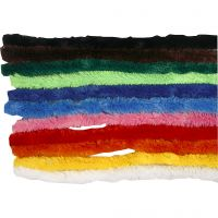 Pipe Cleaners, L: 30 cm, thickness 15 mm, assorted colours, 200 asstd./ 1 pack