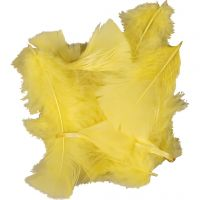 Feathers, size 7-8 cm, yellow, 500 g/ 1 pack