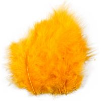 Feathers, size 5-12 cm, yellow, 15 pc/ 1 pack
