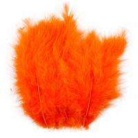 Feathers, size 5-12 cm, orange, 15 pc/ 1 pack