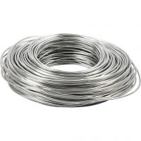 Aluminium Wire, thickness 2,5 mm, silver, 75 m/ 1 roll