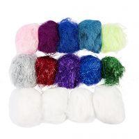 Plastic Fibres, assorted colours, 500 g/ 1 pack