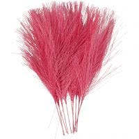 Artificial feathers, L: 15 cm, W: 8 cm, pink, 10 pc/ 1 pack