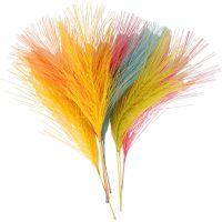 Artificial feathers, L: 15 cm, W: 8 cm, assorted colours, 10 pc/ 1 pack