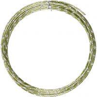 Aluminium Wire, diamond-cut, thickness 2 mm, green, 7 m/ 1 roll