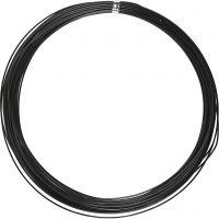 Aluminium Wire, round, thickness 1 mm, black, 16 m/ 1 roll