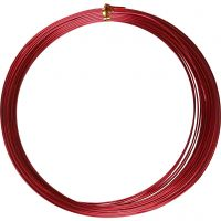 Aluminium Wire, round, thickness 1 mm, red, 16 m/ 1 roll