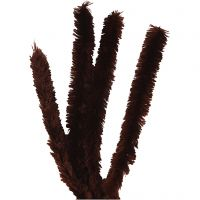 Pipe Cleaners, L: 40 cm, thickness 30 mm, brown, 4 pc/ 1 pack