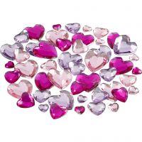 Rhinestones, size 6+10+14 mm, purple, 252 pc/ 1 pack