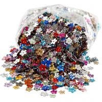 Rhinestones, D: 6+10+12 mm, assorted colours, 2520 pc/ 1 pack