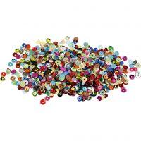 Sequins, round, D: 6 mm, 100 g/ 1 pack