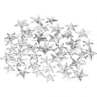 Rhinestones, size 11+12+16 mm, silver, 360 pc/ 1 pack