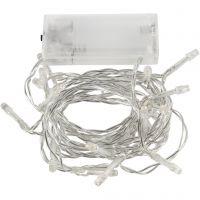 LED String of Lights, L: 3,15 m, transparent, 1 pc