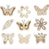 Wooden decorations, summer, size 28 mm, 45 pc/ 1 pack