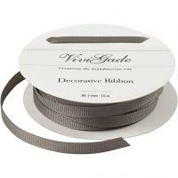 Decoration Ribbon, W: 6 mm, grey, 15 m/ 1 roll
