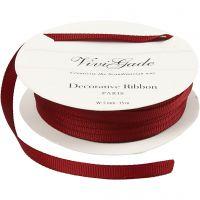 Decoration Ribbon, W: 6 mm, red, 15 m/ 1 roll