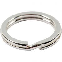 Split Ring, D: 15 mm, silver-plated, 15 pc/ 1 pack