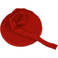 Knitted Tube, W: 22 mm, christmas red, 10 m/ 1 roll