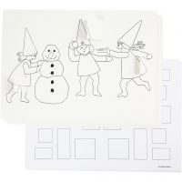 Advent calendar with elves having a snowball fight , A3, 30 pc/ 1 pack