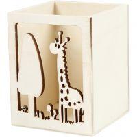Pencil holder, giraffe, H: 10 cm, L: 8 cm, 1 pc