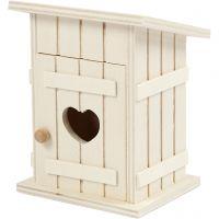 Miniature outhouse, L: 8 cm, W: 6,5 cm, 1 pc