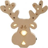 Figure with light inside, reindeer, H: 28 cm, depth 4 cm, W: 27 cm, 1 pc