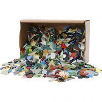 Mosaics, size 8-20 mm, assorted colours, 2 kg/ 1 pack