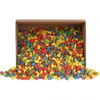 Mosaic stones, size 8-10 mm, bold colours, 2 kg/ 1 pack