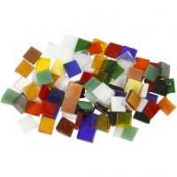 Glass Mosaic Tiles, size 10x10 mm, 454 g/ 1 pack