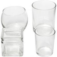 Tea Light Candle Holder, H: 5,3-9,2 cm, D: 4,5-7,3 cm, Content may vary , 72 pc/ 1 box