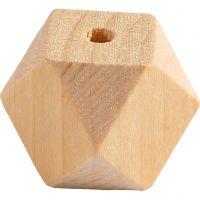 Diamond-Shaped Bead, W: 20 mm, hole size 3 mm, 6 pc/ 1 pack