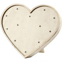 Heart Light Box, H: 21 cm, depth 3,5 cm, W: 23,5 cm, 1 pc