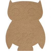Owl, H: 27 cm, depth 2,5 cm, 1 pc
