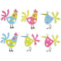 Hens, size 39x30 mm, 6 pc/ 1 pack