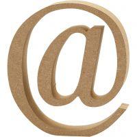 Symbol, @, H: 13 cm, thickness 2 cm, 1 pc
