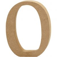 Number, 0, H: 13 cm, thickness 2 cm, 1 pc