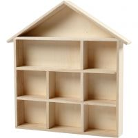 House-Shaped Shelving System, H: 3,5 cm, size 26x25,2 cm, 1 pc