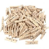 Clothes Pegs, L: 30 mm, W: 3 mm, 100 pc/ 1 pack