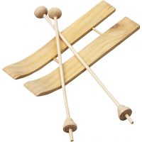 Ski with Sticks, size 11x3,8 cm, 3 pair/ 1 pack