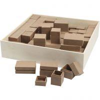 Mini Boxes, H: 2,5-5 cm, 4x15 pc/ 1 pack