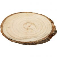 Wooden Discs, size 9,5x6 cm, thickness 6 mm, 12 pc/ 1 pack