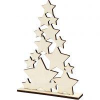 Christmas Tree, H: 29,8 cm, depth 4 cm, W: 21,5 cm, 1 pc