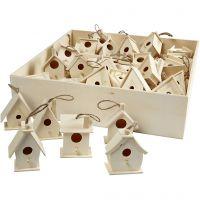 Bird House, H: 7 cm, 6x10 pc/ 1 pack