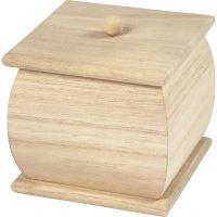 Mini Box with Lid, size 7,5x7,5x8 cm, 1 pc