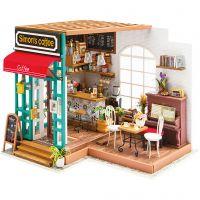 DIY Miniature Room, Coffee shop, H: 19 cm, L: 22,6 cm, W: 19,4 cm, 1 pc