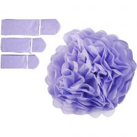 Tissue Pompons, D: 20+24+30 cm, 16 g, purple, 3 pc/ 1 pack