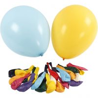 Balloons, D: 43 cm, assorted colours, 50 pc/ 1 pack