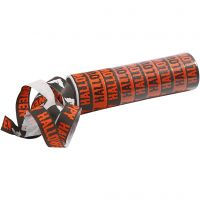 Party streamers, black, orange, 2 roll/ 1 pack