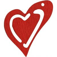 Heart, size 25x22 mm, red, 20 pc/ 1 pack