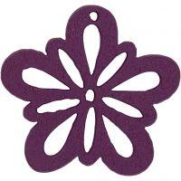 Flower, D: 27 mm, dark purple, 20 pc/ 1 pack